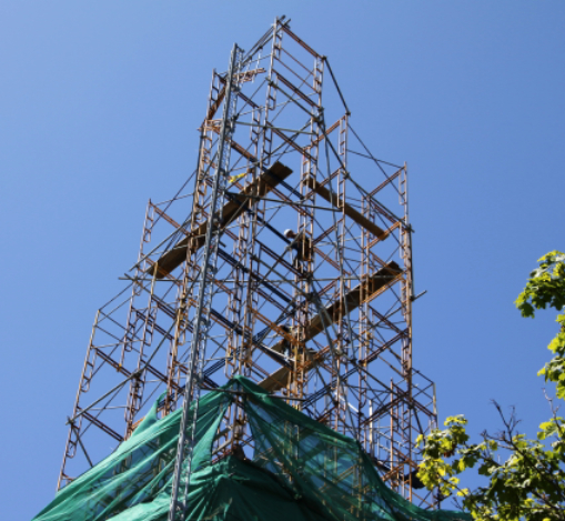 Channing Church Steeple and Scaffolding