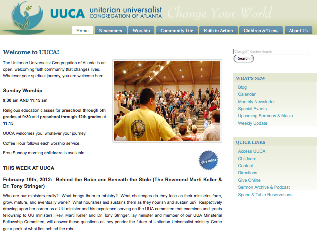 UUCA-org Screenshot