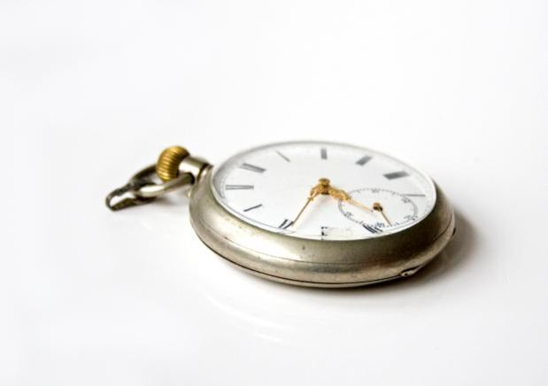Image of an old pocket watch