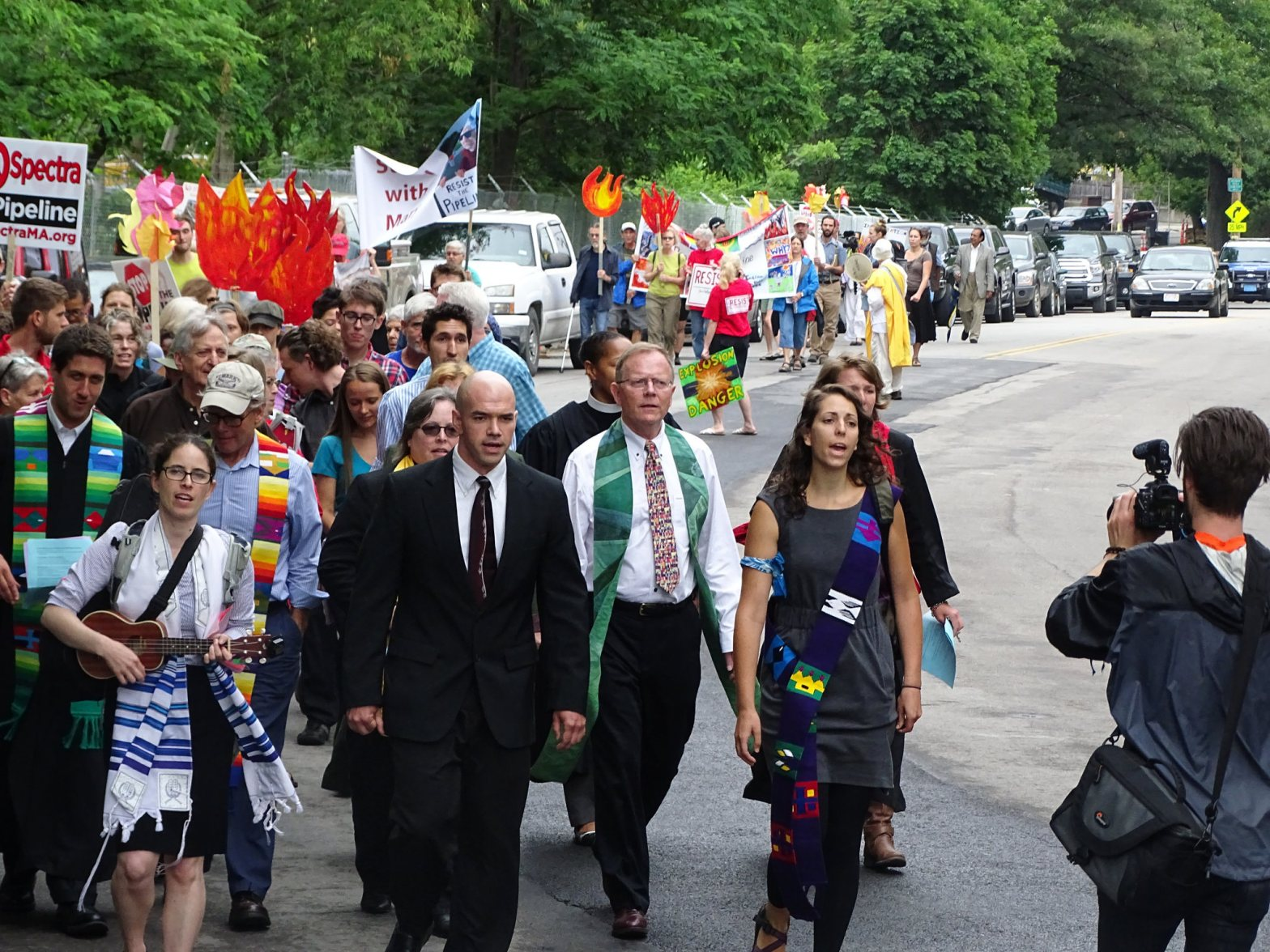 Marching During Stop Spectra Mass Graves Protest